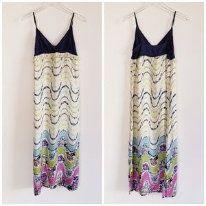 ANTHROPOLOGIE MERMAID 100% Silk Maxi Dress